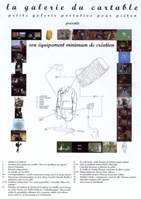 L'équipement minimum de création (impression numérique sur bâche PVC) - vue de l'exposition au FRAC Limousin, 2002